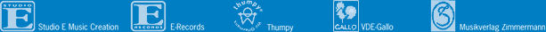 Studio E E-records Thumpy VDE-Gallo Zimmermann logo
